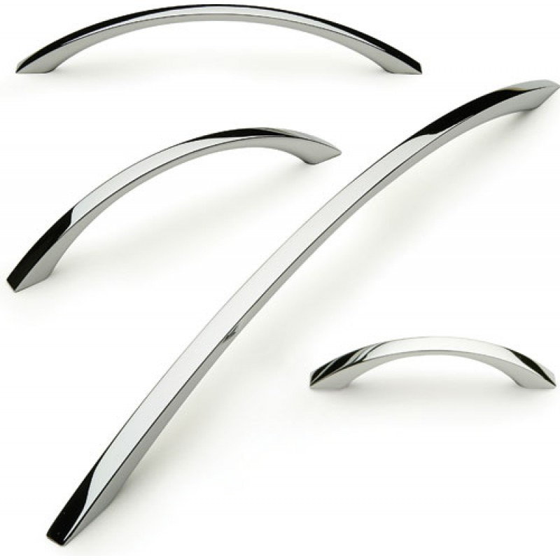 Mm Bow Cabinet Handle Polished Chrome Square Mm Centres - Chrome handles for kitchen cabinets