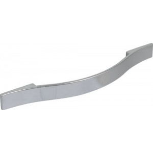 232mm Polished Chrome Strap Handle - 160mm Centres