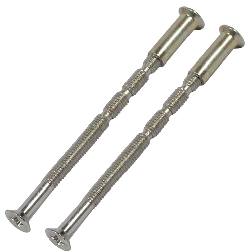 2 x M4 bolts & sleeves for door handle roses & escutcheons