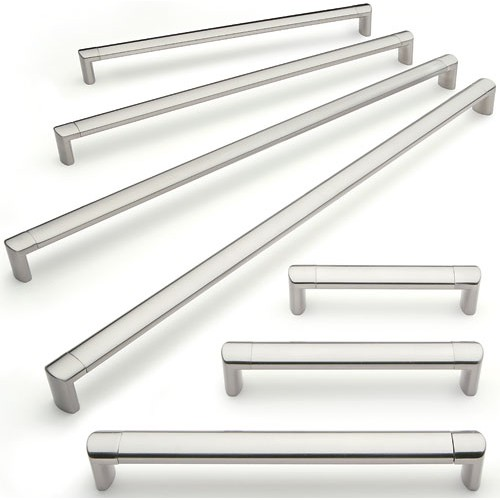 Cabinet pull handle stainless finish 22mm bar for 110mm kitchen door handles