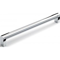 204mm Polished Chrome Bar Handle - 20mm Bar - 192mm Centres