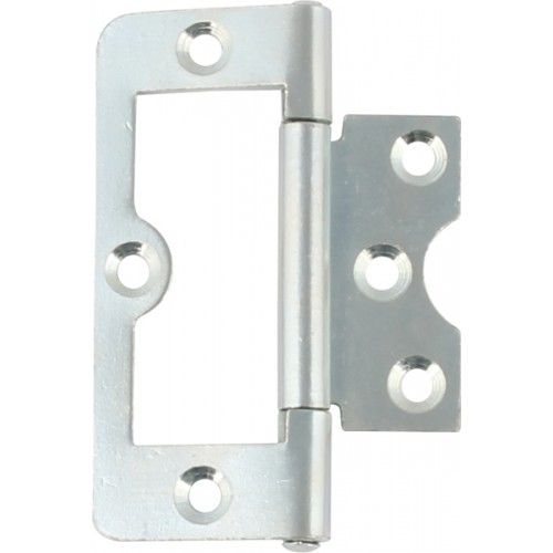 105 Flush Door Hinge   75mm X 33mm   Polished Chrome
