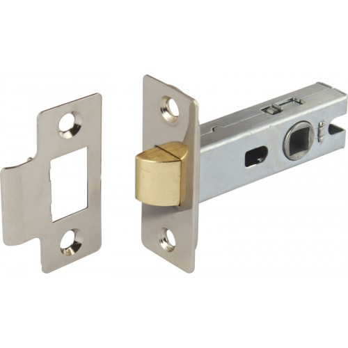 Nickel Finish Tubular Mortice Latch - 45mm Backset