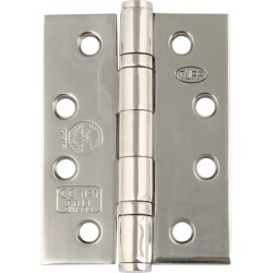 Ball Bearing Door Hinges - 102 x 76mm - Polished Stainless Steel (Pack of 3)