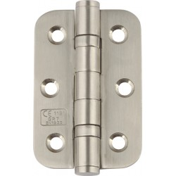 Ball Bearing Door Hinges - Polished Stainless Steel - 76 x 51mm