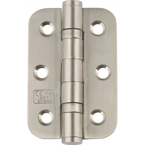 Ball Bearing Door Hinges - Satin Stainless Steel - 76 x 51mm