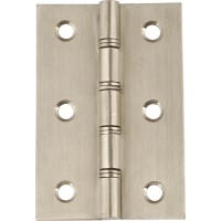 Double Washered Door Hinges - Satin Stainless Steel - 76mm x 50mm