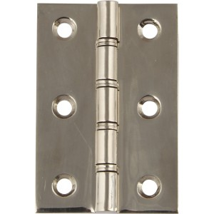 Double Washered Door Hinges - Polished Stainless Steel - 76mm x 50mm