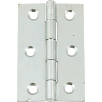 Pair of Zinc Plated Door Hinges - 75mm x 49mm