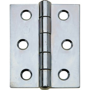 Pair of Steel Door Hinges - 76mm x 64mm