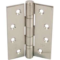 Ball Bearing Door Hinges - 102 x 76mm - Satin Stainless Steel (Pack of 3)