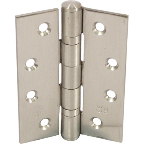 Ball Bearing Door Hinges - Satin Stainless Steel - 102 x 76mm