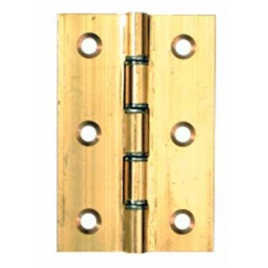 Washered Door Hinges - Solid Drawn Brass - 76 x 51mm