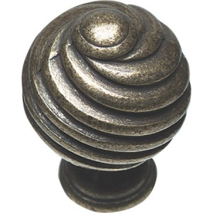 30mm Twister Cabinet Door Knob - Pewter Finish