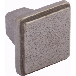 32mm Square Antique Pewter Door Knob