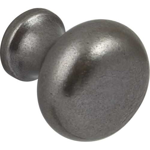 Cabinet Door Knob Pewter Finish 35mm Traditional