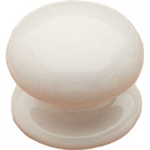 38mm White Ceramic Door Knob
