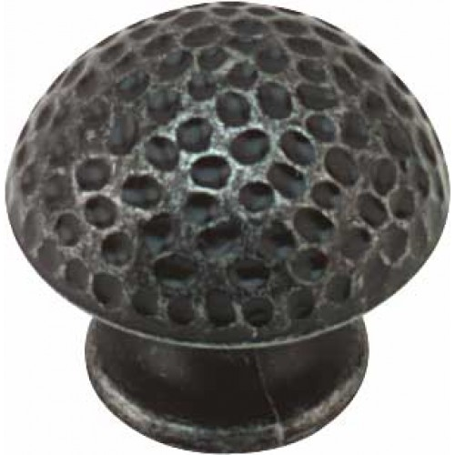 Hammered Antique Pewter Finish Cabinet Knob - 32.5mm