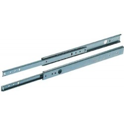 280mm Drawer Runners - Single Extension - 27mm Groove