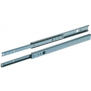350mm Drawer Runners - Single Extension - 27mm Groove