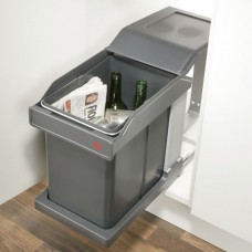 Base Mounted Pull Out 20L Bin - 300mm Cabinet