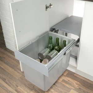 EKKO 40 Built-in Pull Out Kitchen Bin 34L