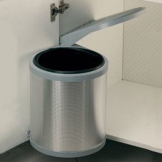 10L Swing-out Kitchen Bin - Aluminium