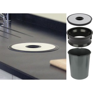 13 Litre Recessed Kitchen Worktop Bin