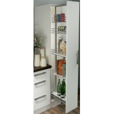 300mm Kitchen Larder Unit, Soft Close, Centre Mounting, 1700-1950mm
