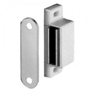 White Magnetic Catch and Counterplate, 6kg Pull