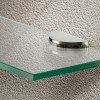 2 x Stainless Steel Shelf Brackets, 5-8mm Glass
