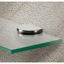 Stainless Steel Finish Glass Shelf Bracket - 6-10mm glass