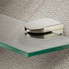 2 x Shelf Support Clamps, Stainless Finish, 6 - 8mm Glass