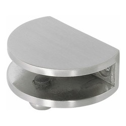Small Stainless Steel Finish Glass Shelf Bracket, 6-8mm glass