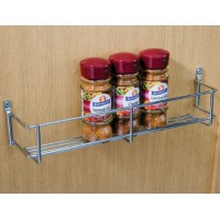 400mm Chrome Wire Spice Rack 1 Tier