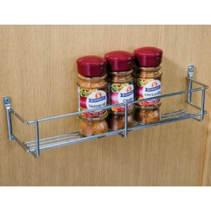 300mm Chrome Wire Spice Rack 1 Tier