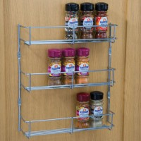3 Tier 400mm Chrome Wire Spice Rack