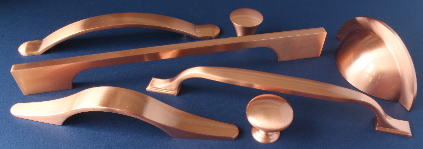 View our brushed copper handle range