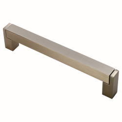 Square Satin Nickel Bar Handle - 128mm Centres