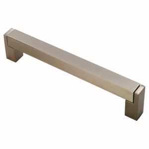 Square Section Cabinet Bar Handle - Satin Nickel - 224mm Centres