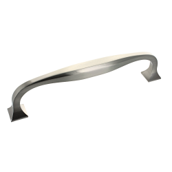 Corbusier 141mm Brushed Satin Nickel D Handle - 128mm Centres