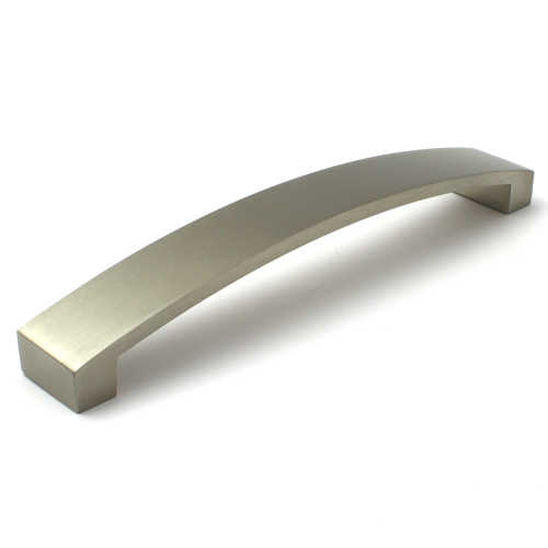 Brushed Nickel Cabinet Bow Handle - 160mm Centres
