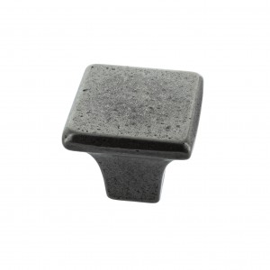 George 32mm Pewter Finish Square Cabinet Knob