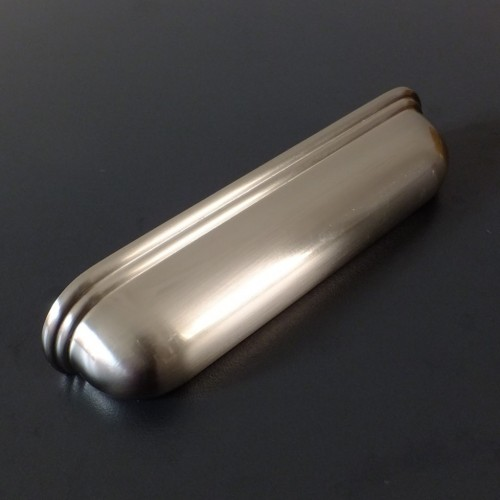 Calgary Brushed Satin Nickel Cup Handle - 128mm Centres