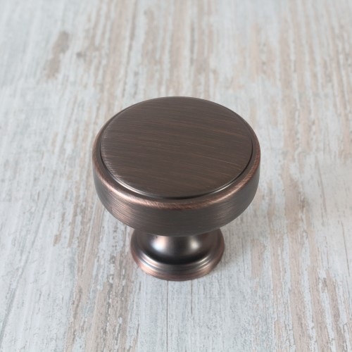 Calgary American Copper Cabinet Knob - 35mm