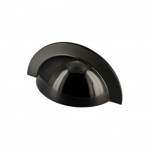 Monmouth Polished Black Nickel Cabinet Cup Handle - 64mm Centres