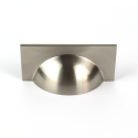 Monmouth Square Brushed Stainless Steel Cup Handle | 64mm Centres