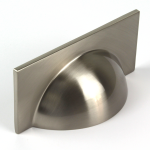 Monmouth Square Brushed Stainless Steel Cup Handle   64mm Centres