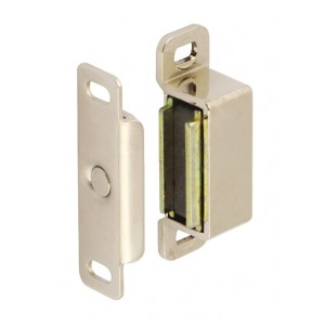 Magnetic Cupboard Catch - 6kg Pull - Nickel Plated