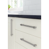 Collared T Bar Cabinet Handles - Stainless Finish - 14mm Bar